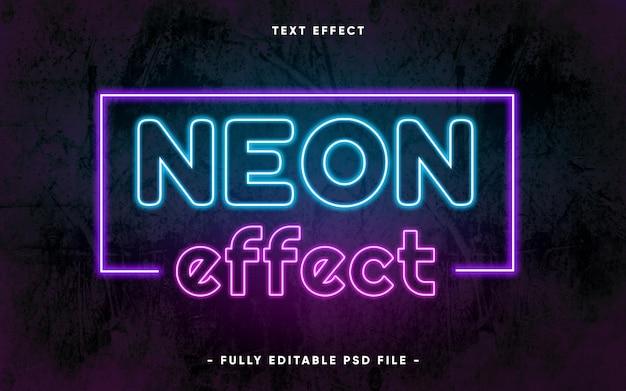 Texto editável com estilo neon