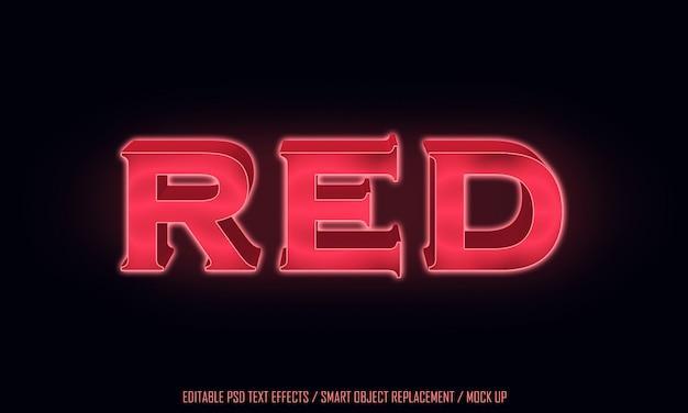 Texto editável da luz vermelha