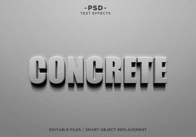 Texto editável de efeitos de parede de concreto 3d