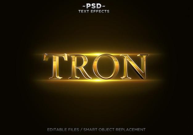Texto editável dos efeitos trone de ouro 3d