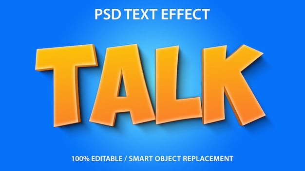 Texto editável efeito talk