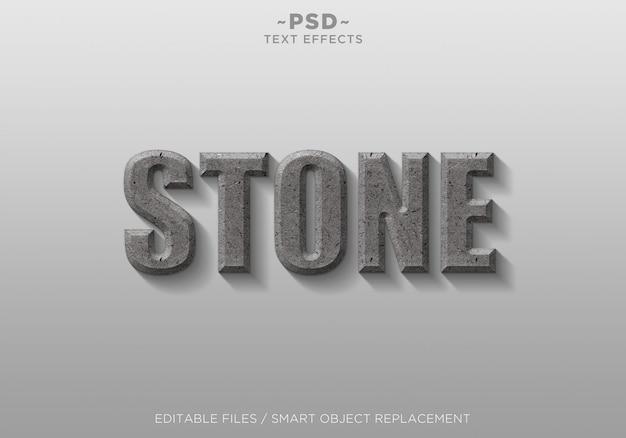 Texto em 3d de efeitos de estilo de pedra