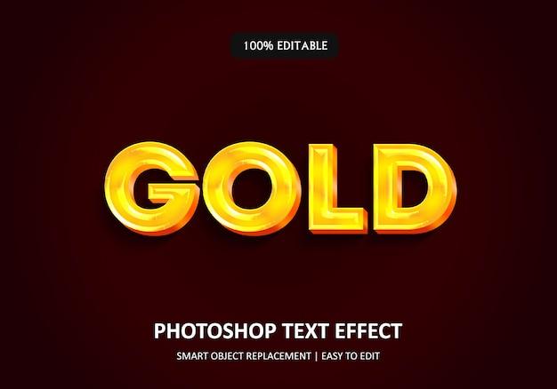 Texto em 3d ouro