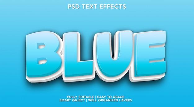 Texto em azul efeito de texto moderno