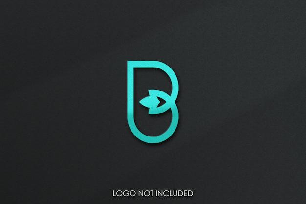 Textura de grão de maquete de logotipo 3d