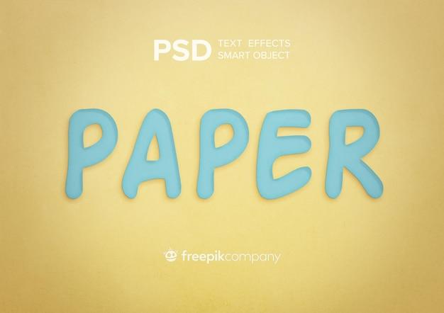 Textura de papel de efeito de texto