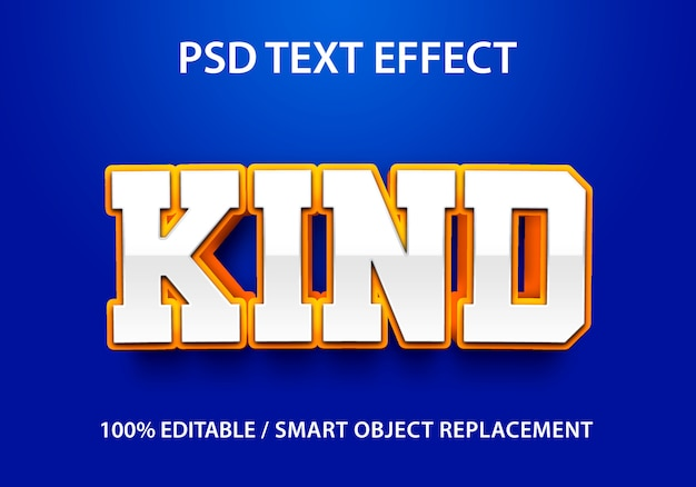 Tipo de efeito de texto editável
