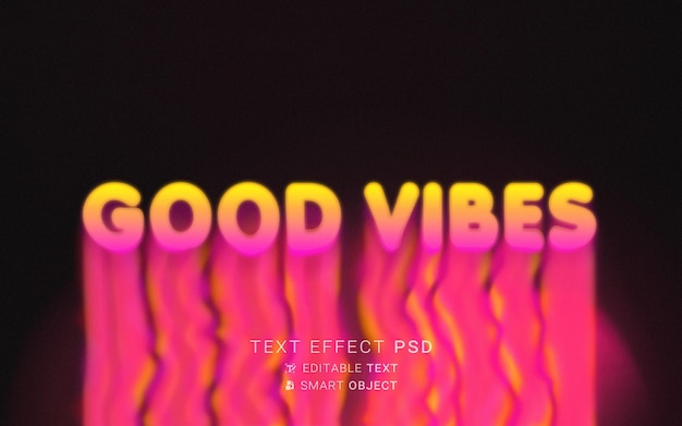 Tipografia líquida de efeito de texto