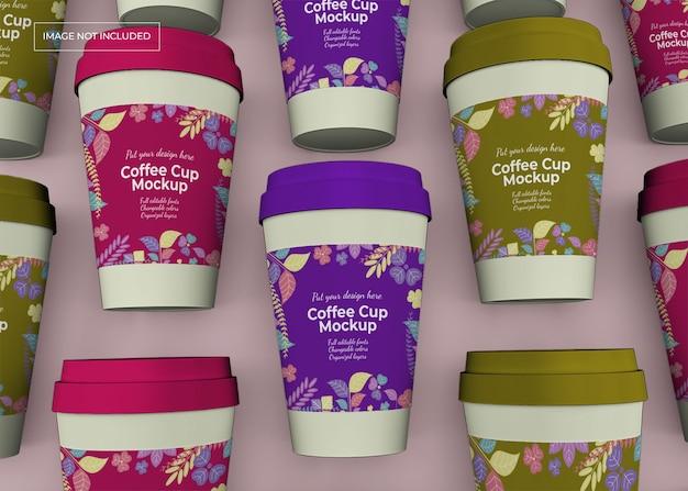 Tire a maquete da xícara de café