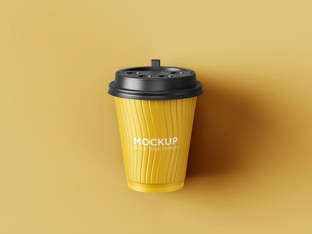Tire a maquete de copo de café de plástico