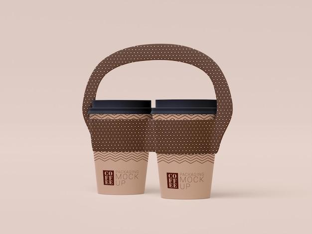 Tire a maquete de xícara de café descartável