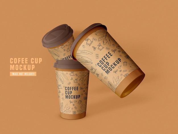 Tire a maquete do copo de café de papel psd
