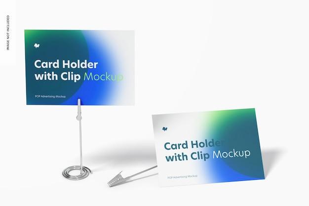 Titulares de cartão com modelo de clipe de jacaré, descartados