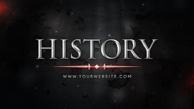 Título cinematográfico em tema histórico em fundo abstrato