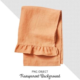 Toalha de mesa laranja isolada