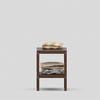 Toalha em um rack de madeira