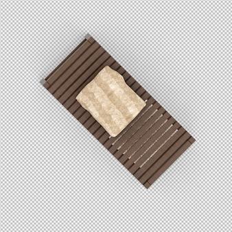 Toalhas em um rack de madeira