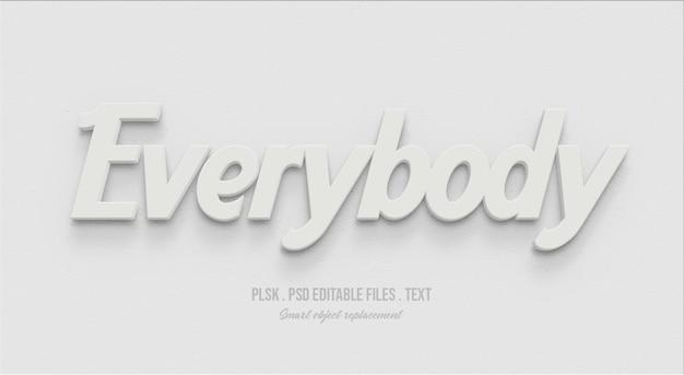 Todo mundo efeito de estilo de texto 3d