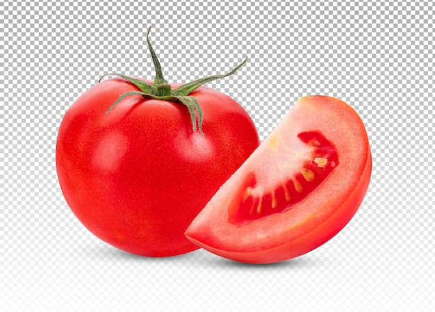 Tomate fresco isolado
