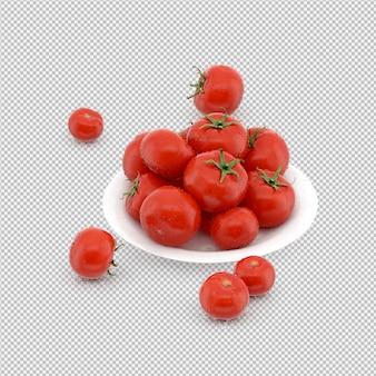 Tomates isométricos 3d render