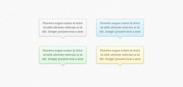 Tooltips transparentes (psd)