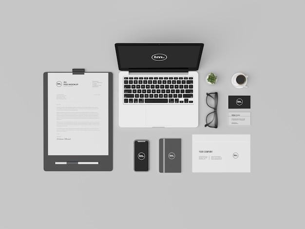 Top design de modelo de identidade visual para papelaria veiw