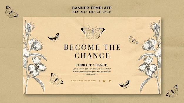 Torne-se o banner de mudança de borboleta