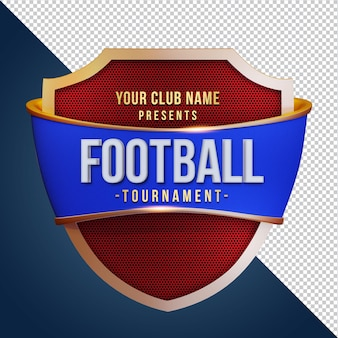 Torneio foot ball com renderização 3d shield