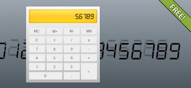 Totalmente livre psd calculator layered