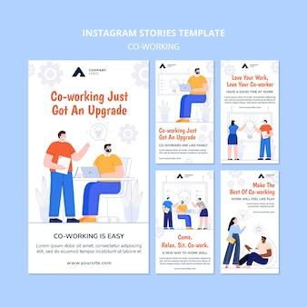 Trabalhando juntos em histórias do instagram