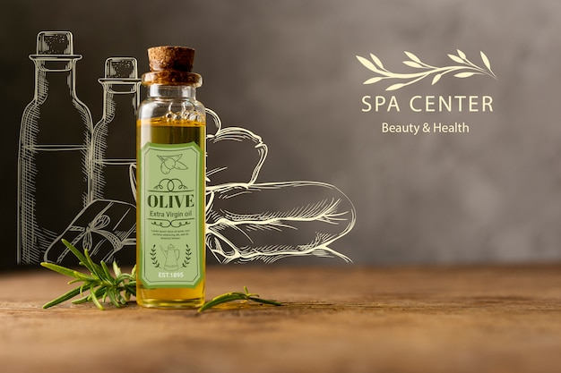 Tratamento de spa com cosméticos naturais