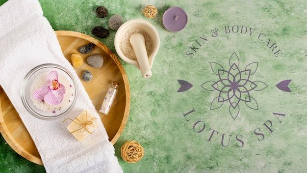 Tratamentos de spa com produtos naturais
