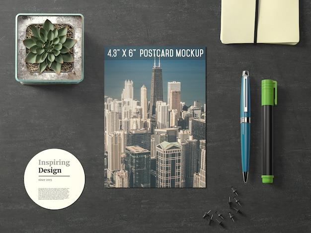 Travel postcard maquete acima