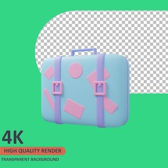 Traveller bag 3d traveller icon ilustração de alta qualidade render