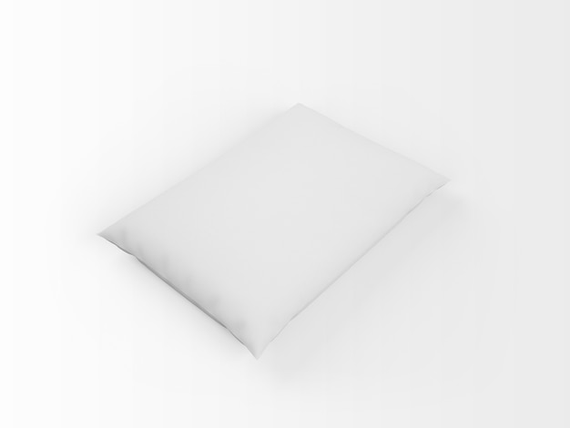Travesseiro branco em branco realista