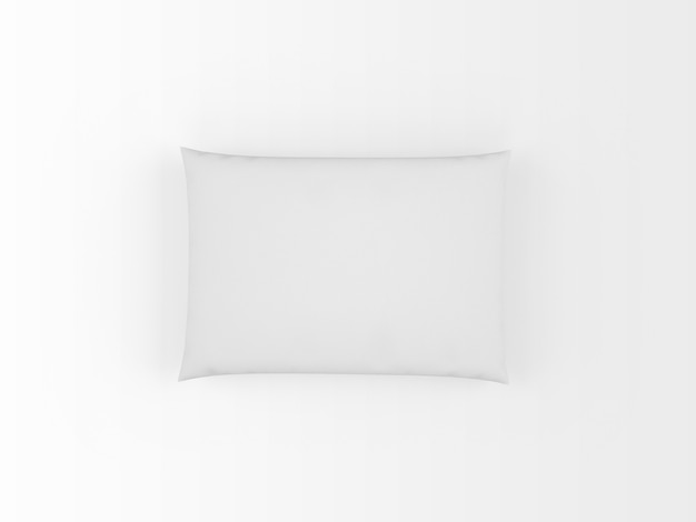 Travesseiro branco realista isolado no branco