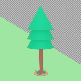 Tree spring design rendering isolado