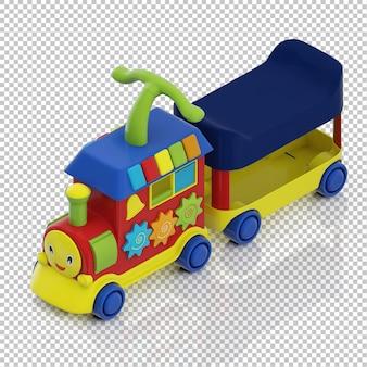 Trem de garoto isométrico