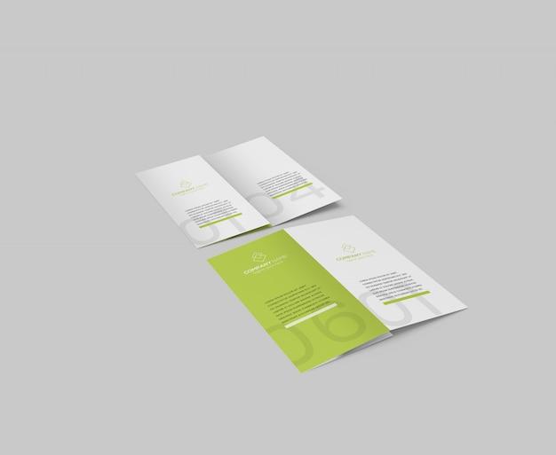 Tri fold flyer maquete psd