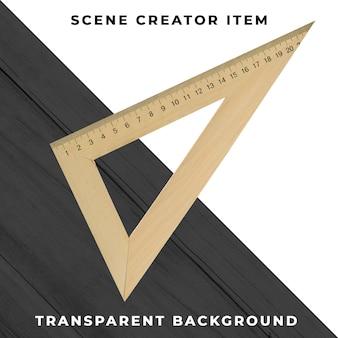 Triângulo objeto transparente psd