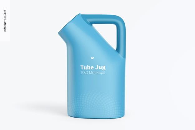 Tube jug mockup, front view