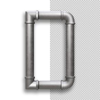 Tubo de metal, alfabeto d