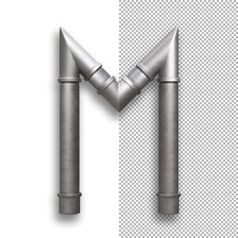 Tubo de metal, alfabeto m