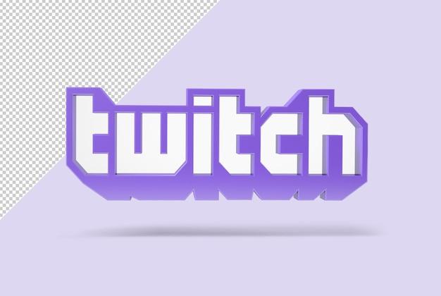 Twitch em renderização 3d Psd Premium