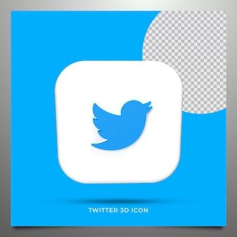 Twitter renderização 3d