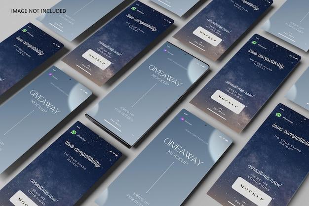 Ultra smartphone e maquete de tela