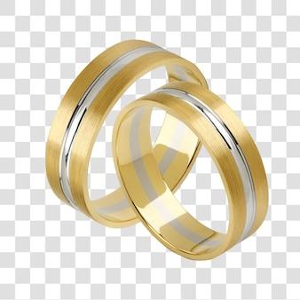 Um par de alianças de casamento, arquivo psd em camadas