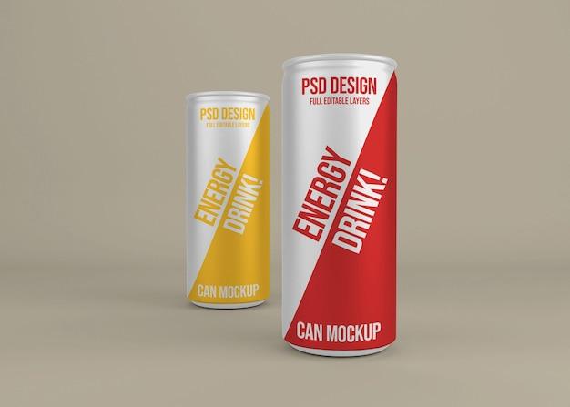 Uma bebida energética de metal realista pode maquiar