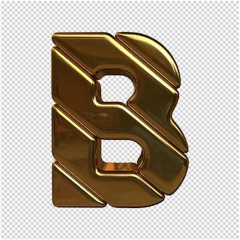 Uma carta feita de ouro em renderização 3d