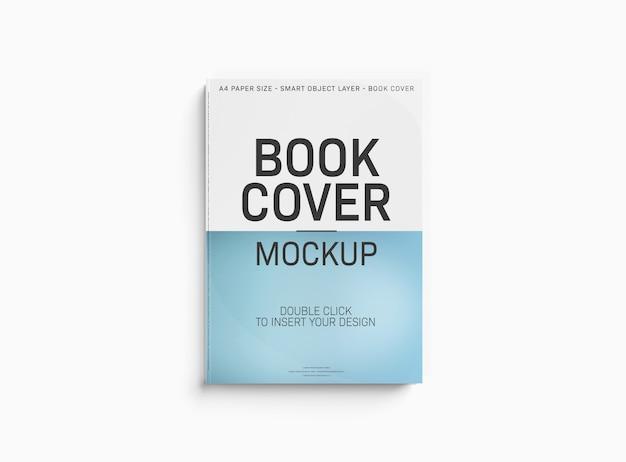 Uma maquete de uma capa de livro na superfície branca